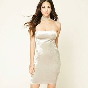 Forever 21 Velvet Choker Bodycon Cocktail Dress